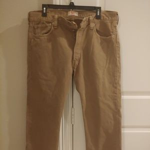 Levi's 501 Men's Jeans Beige button fly Size 36